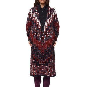 Mara Hoffman Bolnisi red rug duster sweater XS